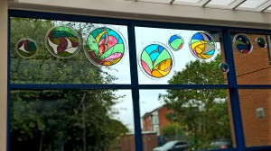 The Peace windows, Amani Centre, Hulme, Manchester