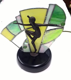 Art deco fan lamp