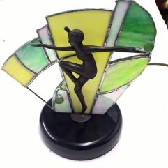 Art deco fan lamp