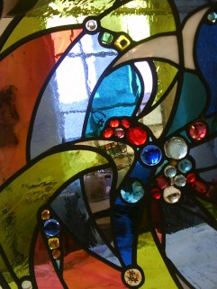 Detail peace window.