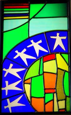 St Vincents Housing Manchester foyer window -3