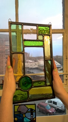 Finished panel Stained glass panel from the stained glass weekend workshop